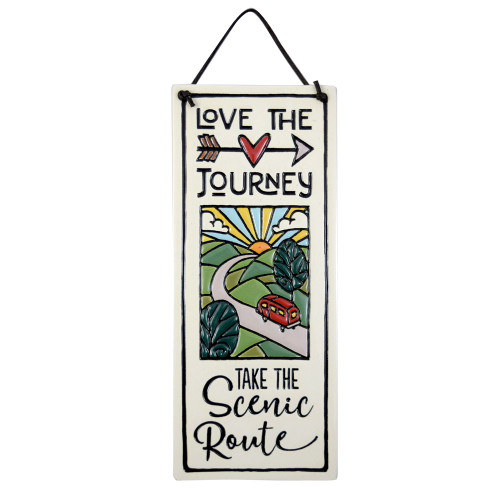 Ceramic Tile Plaque - Take the Scenic Route