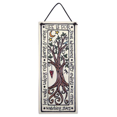 Ceramic Quote Plaque - Tree of Life