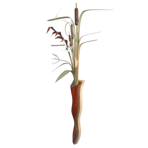 Wood Wildflowers Wetlands Wall Vase Arrangement