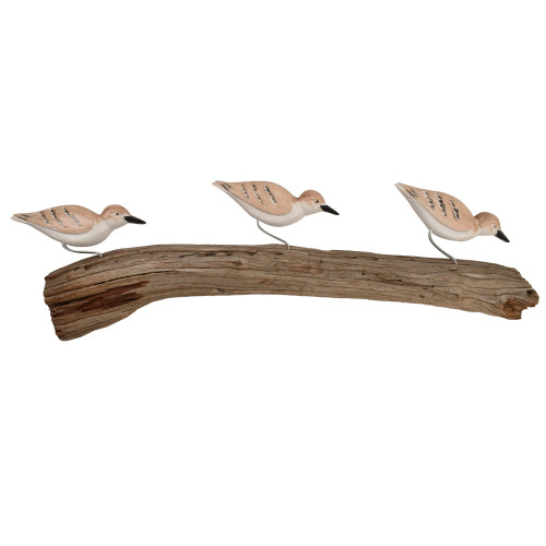 Sandpipers on Driftwood Wall Hanging