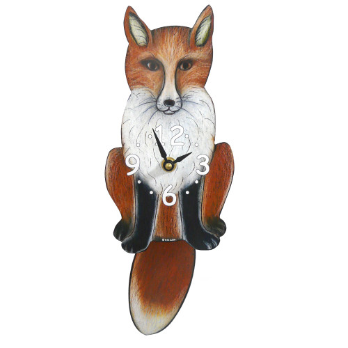 Tail-Wagging Fox Clock