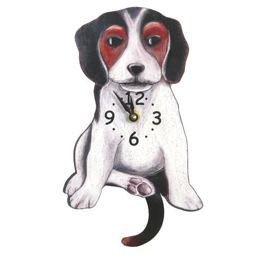 Tail-Wagging Dog Clock: Beagle
