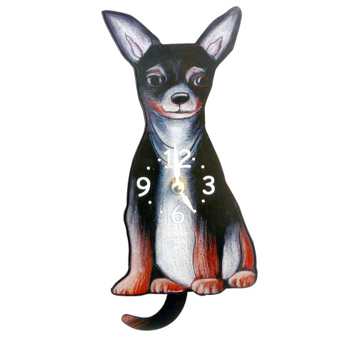 Tail-Wagging Dog Clock: Chihuahua