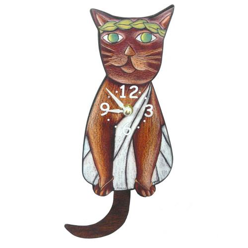 Tail-Wagging Cat Clock: Toga Cat