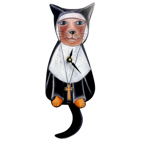 Tail-Wagging Cat Clock: Sister Mary Meow