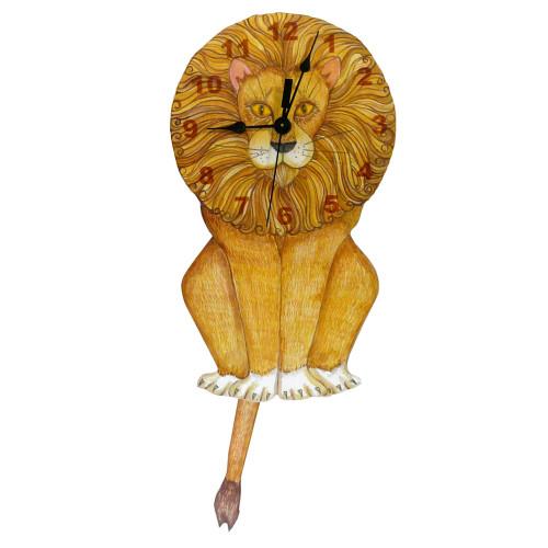 Lion Swinging Tail Pendulum Clock