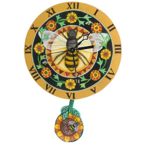 Garden Bee Pendulum Clock