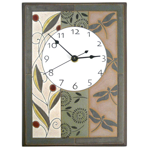 Ceramic Wall Clock: Nature's Tapestry