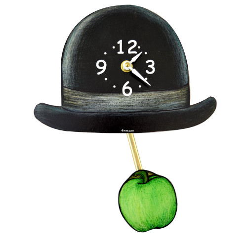Surrealist Derby and Apple Clock