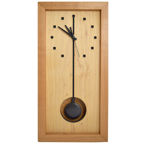 Cherry + Maple Wood Tall Box Clock