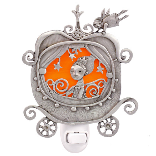 Cast Pewter Art Nightlight - Pumpkin Carriage