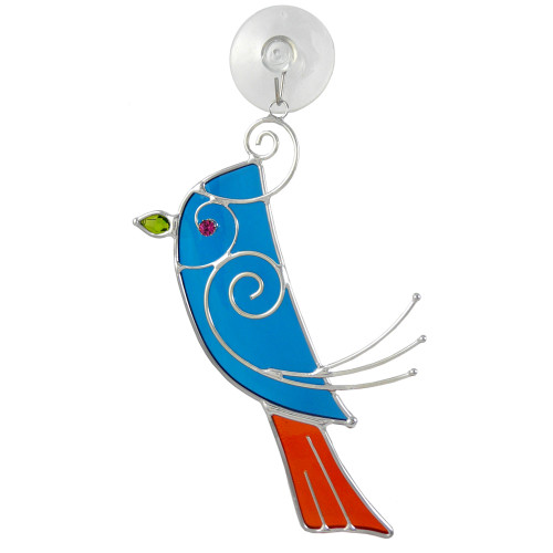 Blue Songbird Suncatcher