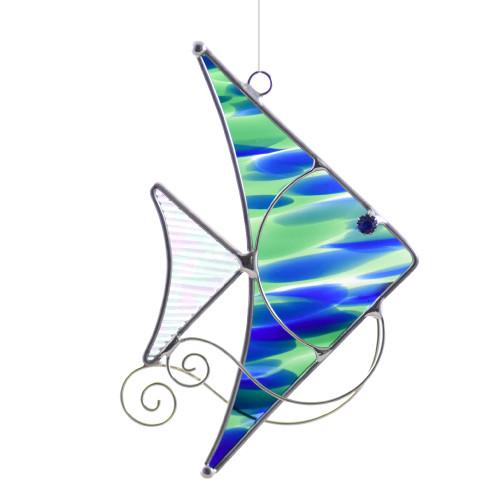 Angelfish Art Glass Suncatcher