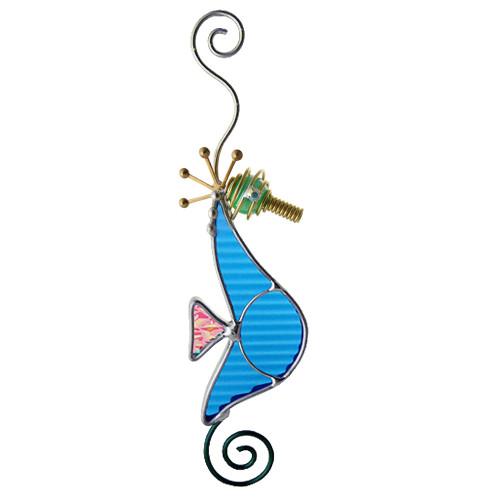 Blue Seahorse Suncatcher