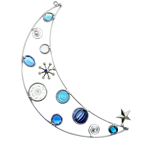 Blue Moon Wirework Suncatcher