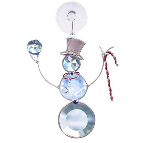 Crystal Snowman Suncatcher