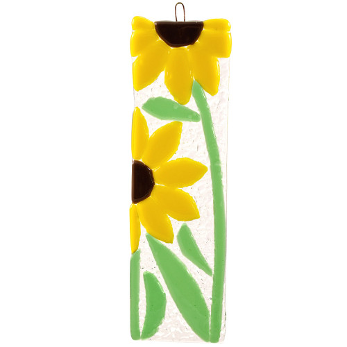 Sunflowers Fused Glass Suncatcher