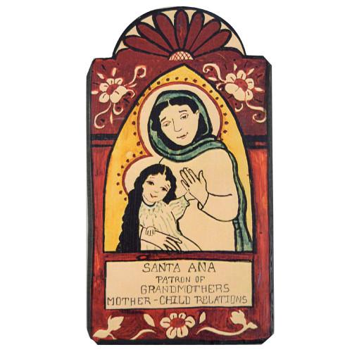 Patron Saint Retablo Plaque - Santa Ana