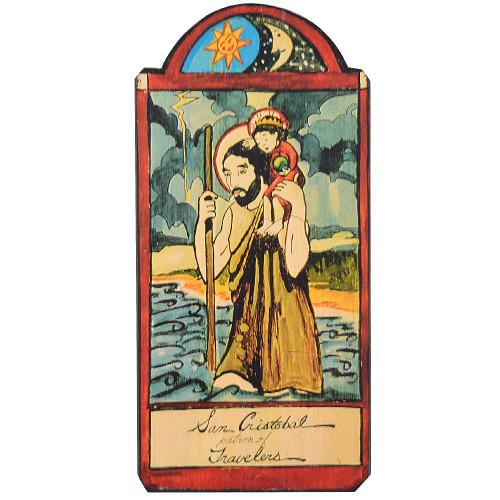 Patron Saint Retablo Plaque - San Cristobal