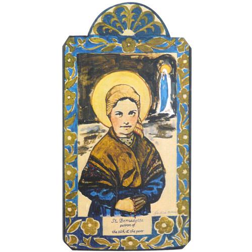 Patron Saint Retablo Plaque - St Bernadette