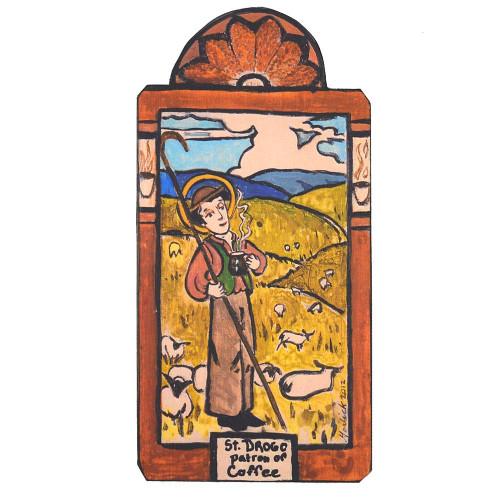 Patron Saint Retablo Plaque - St Drogo