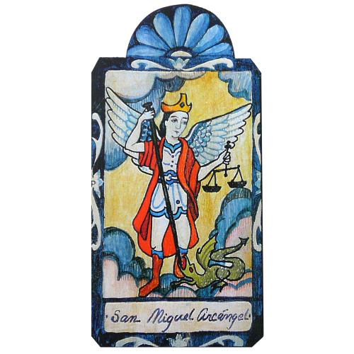 Patron Saint Retablo Plaque - San Miguel Archangel