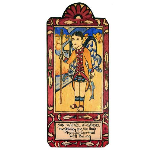 Patron Saint Retablo Plaque - San Rafael Archangel
