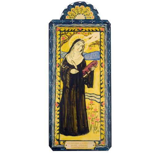 Patron Saint Retablo Plaque - St Hildegard Von Bingen
