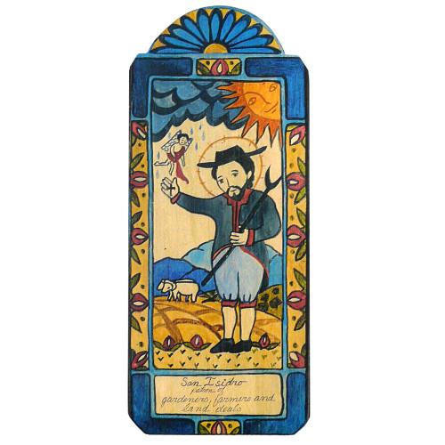 Patron Saint Retablo Plaque - San Isidro