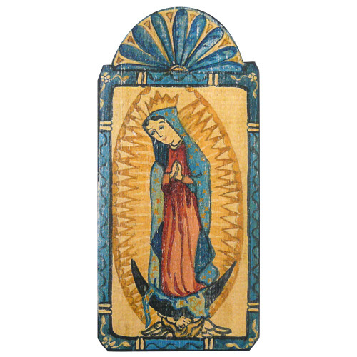 Patron Saint Retablo Plaque - Our Lady of Guadalupe
