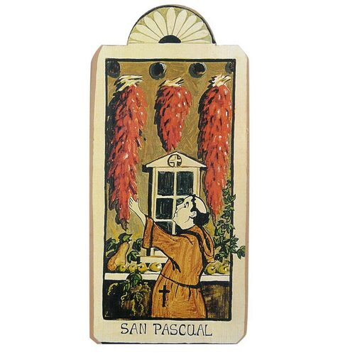 Patron Saint Retablo Plaque - San Pasqual