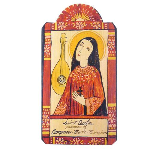 Patron Saint Retablo Plaque - St Cecilia