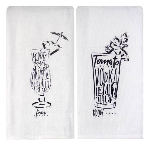 Perfect Pairings Kitchen Towel Set: Bloody Mary/Pina Colada