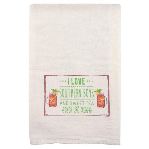 Flour Sack Towel: Southern Boys and Sweet Tea