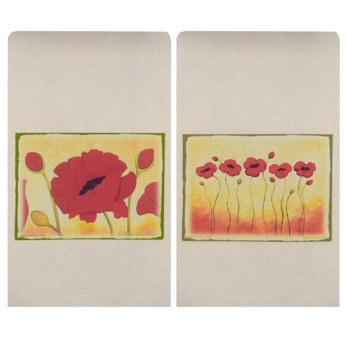 Red Poppy Tea Towel Set