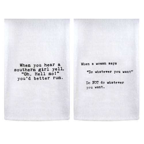 Perfect Pairings Kitchen Towel Set: Southern Girls Quote