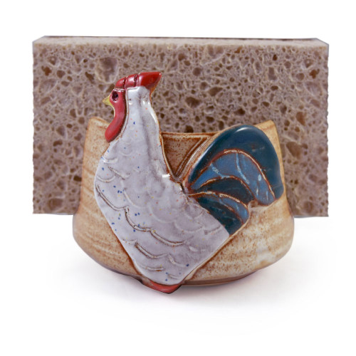 Sponge Holder with Farmhouse Rooster