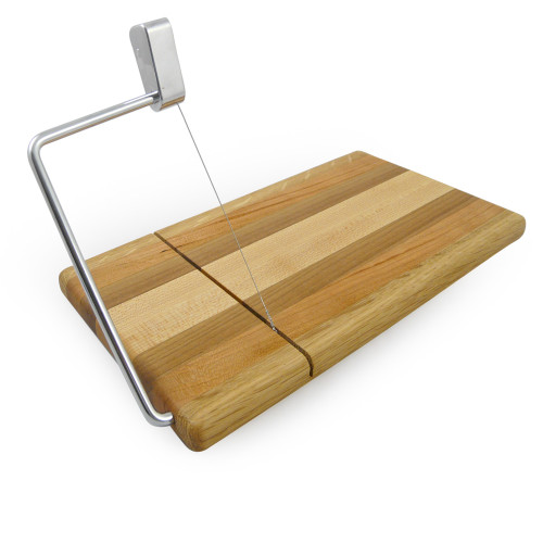Mixed Hardwood Cheese Board with Slicer