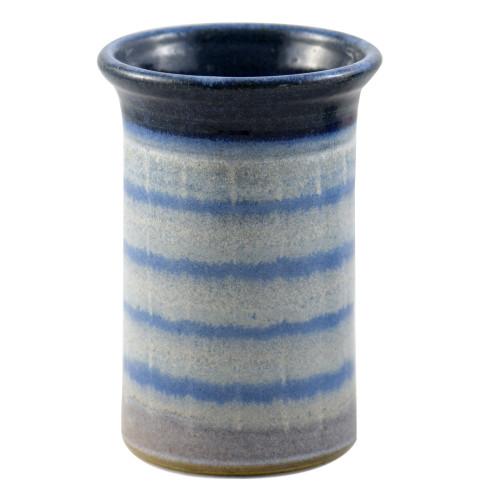 Stoneware Utensil Holder/Wine Chiller in Blue Mist