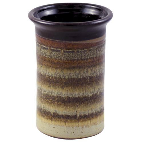 Stoneware Utensil Holder/Wine Chiller in Mocha Cream