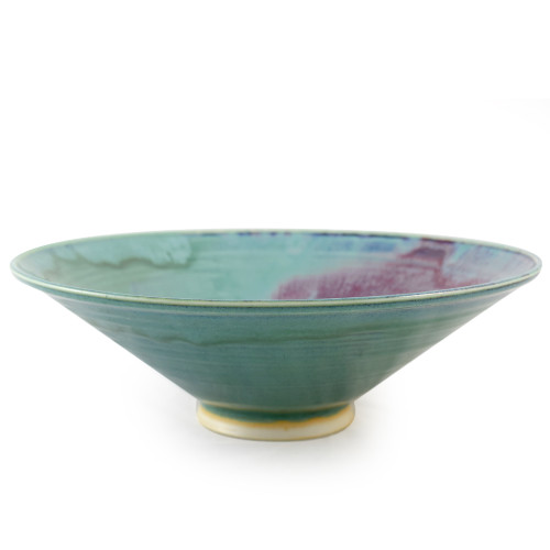 Orchid Green Pottery Collection: Wide Serving Bowl