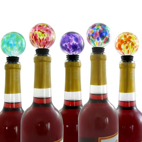 Hand-Blown Glass Wine Stopper