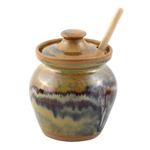 Tuscan Farmhouse Collection: Stoneware Honey Pot