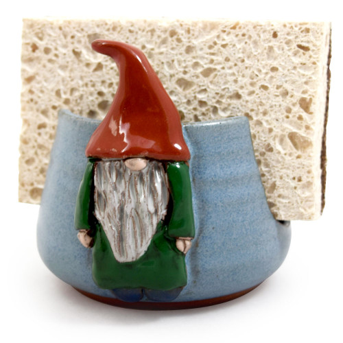Sponge Holder with Garden Gnome Motif