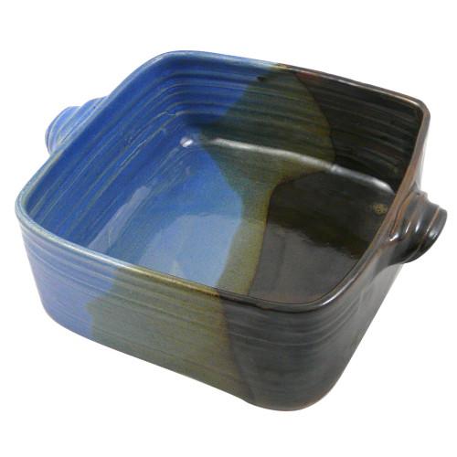 3-Qt Stoneware Square Casserole Dish in Lakeside Glaze