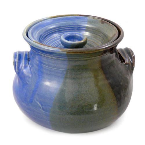 Stoneware 2.25-Qt Bean Pot, Lakeside Glaze