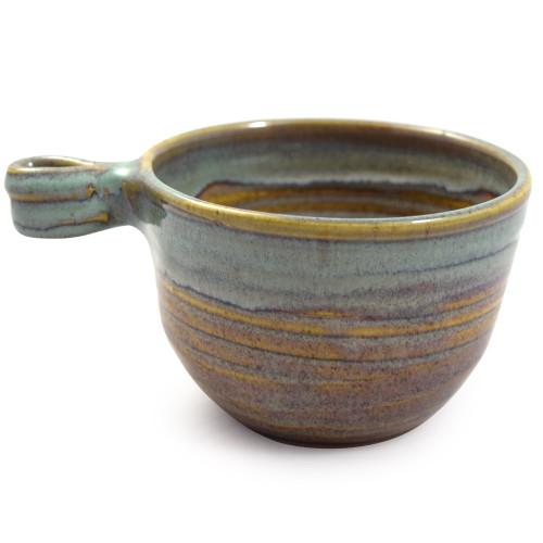 Stoneware French Onion Soup Bowl, Sea Oats Glaze