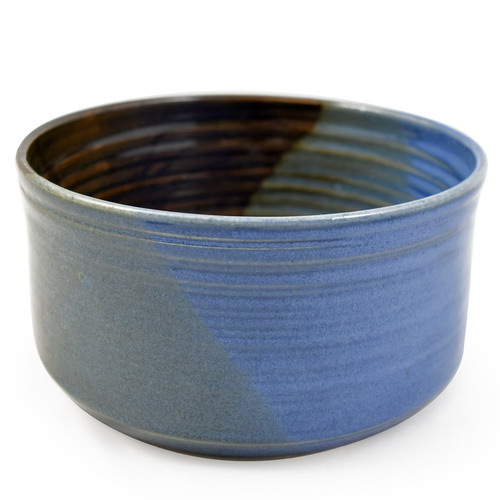 Stoneware Pottery Cobbler Crock/Baker, Lakeside Blue Glaze