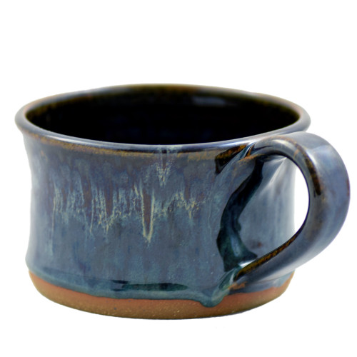 Seagrove Pottery Soup Mug in Midnight Blue
