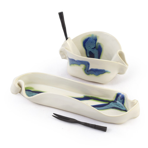 Hilborn Pottery Aurora Collection Hors D'oeuvre Set